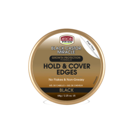 African Pride Black Castor Miracle Hold & Cover Edges 64gr