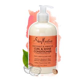 Shea Moisture Coconut & Hibiscus Curl & Shine  Conditioner 384ml