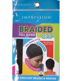 Impression - Braided Cap Side Parting Style Black