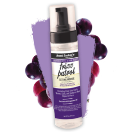 Aunt Jackie's Grapeseed Frizz Patrol Anti Poof Twist & Curl Setting Mousse