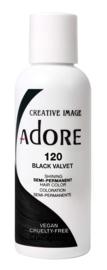 Adore Semi Permanent Hair Color 120 Black Velvet 118ml