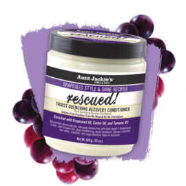 Aunt Jackie's Grapeseed Style & Shine Recipes RESCUED! Thirst Quenching Recovery Conditioner 426 gr