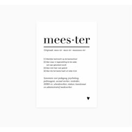 Kaart | Meester