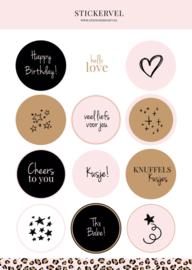 Stickervel | Pink Leopard