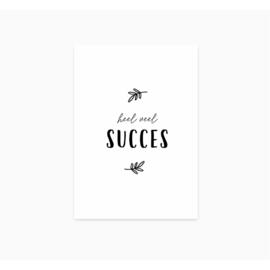 Heel veel succes