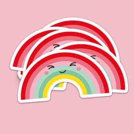 Sticker XL | Regenboog