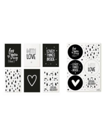 Set cadeaukaartjes + stickers