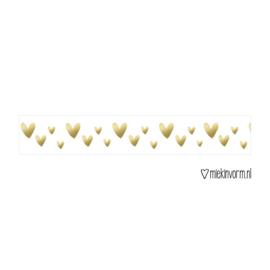 Washi tape | Gouden hartjes