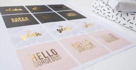 Sticker set | Hello Gorgeous