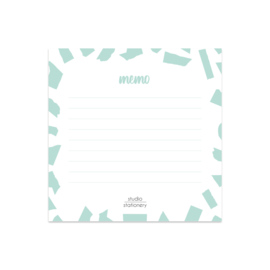 Mini Memo || Mint Confetti