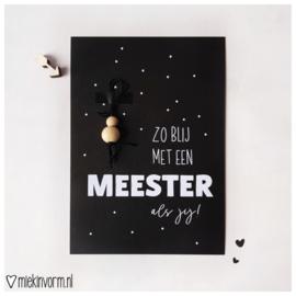 Kadootje voor de meester | kaartje + gelukspopje