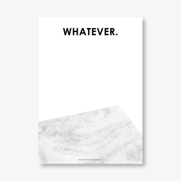Notitieblok    Whatever.
