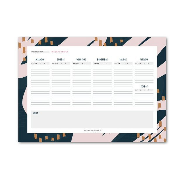 Noteblock || Weekplanner A4
