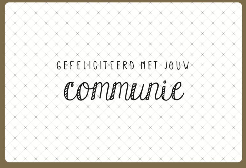 Communie | Gefeliciteerd