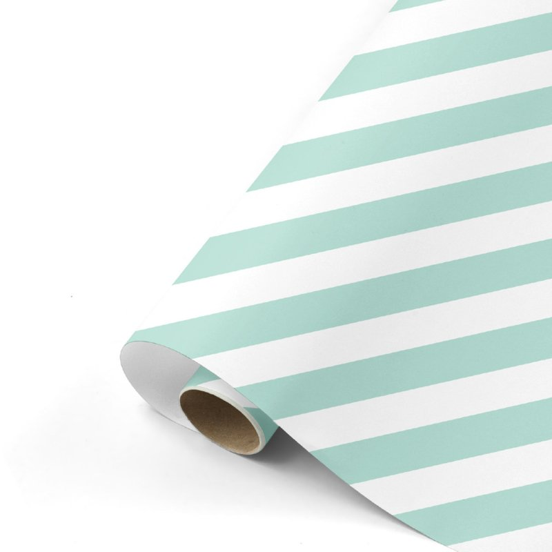Inpakpapier | Bold Lines munt/wit