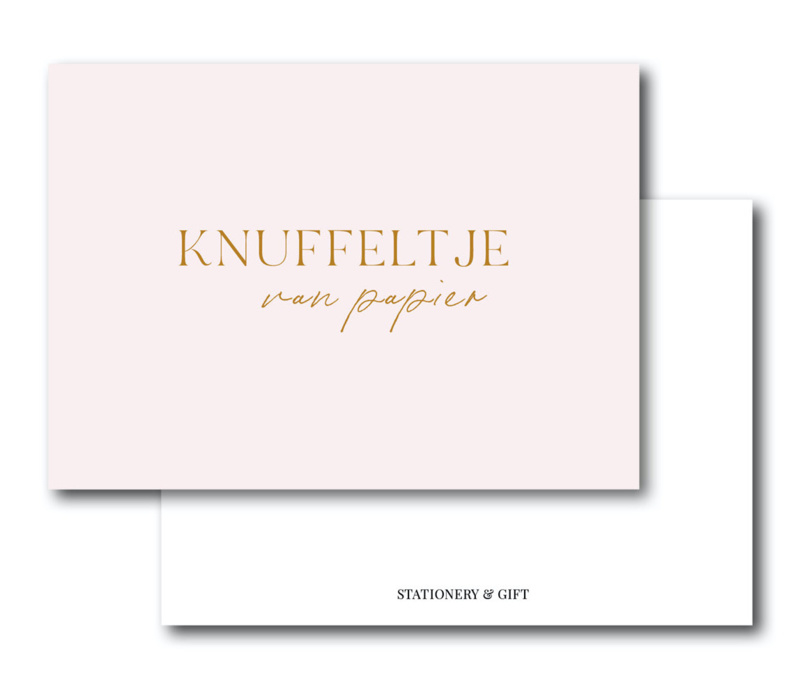 Cadeaukaartje | Een knuffeltje van papier