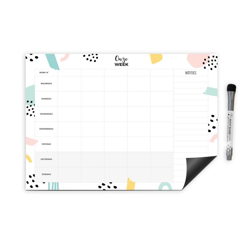 Weekplanner || whiteboard magnetisch