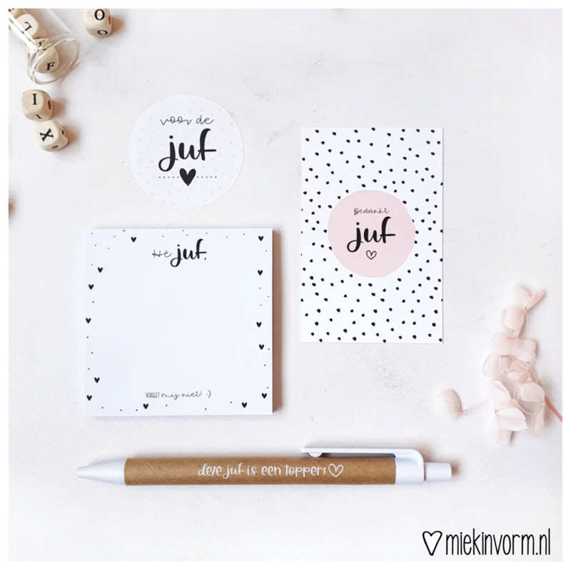 Cadeauset juf   Post-its