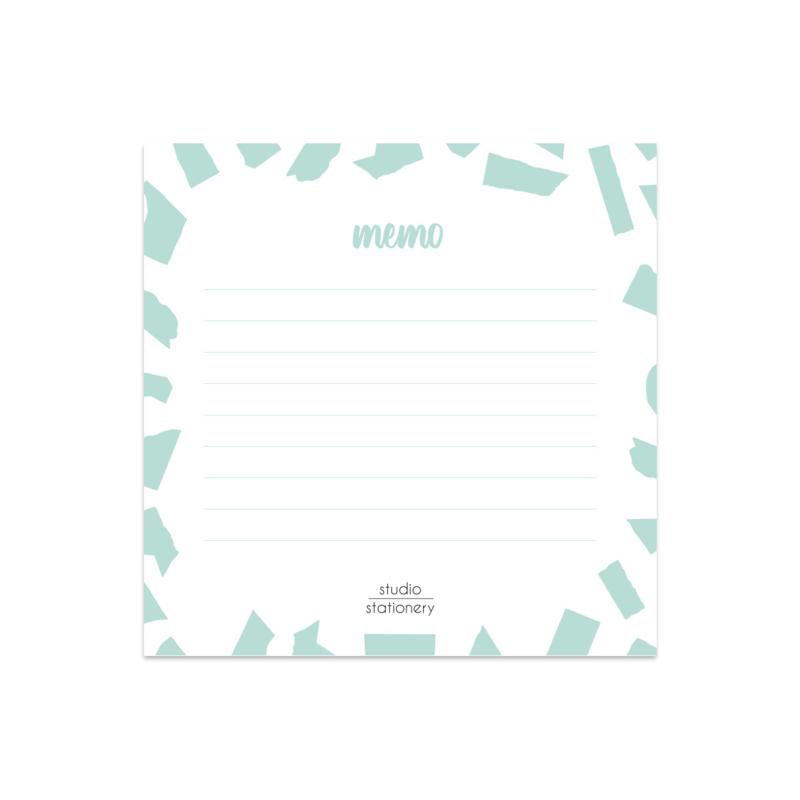 Mini Memo || Mint Confetti