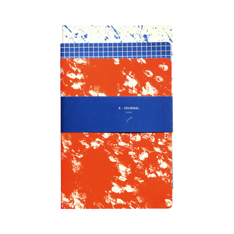 Set van 3 softcover notebooks