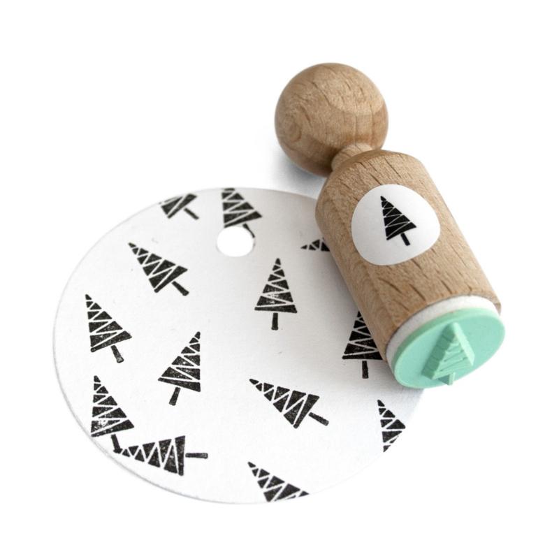 Mini Stempel | Kerstboom zigzag