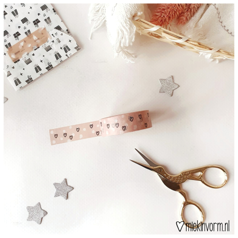 Washi tape | Hartjes en stipjes