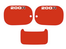 Panel Set 200cc Red