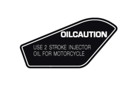 "Caution ""Use 2 Stroke Oil"" Decal"