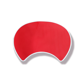 Front Mask Round Red