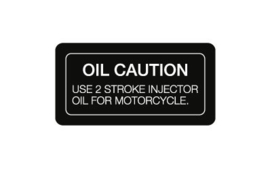 9. Decal Oil Caution