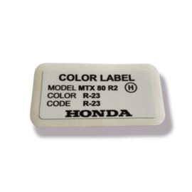 Color Label R-23 MTX R2