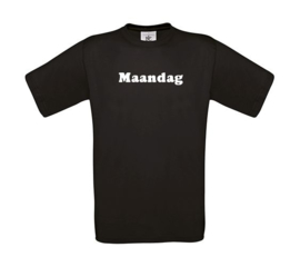Set van 7 T-shirts Weekdagen