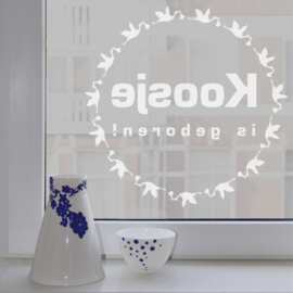 Geboortesticker Stork Circle