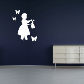 Interieursticker Silhouette Girl