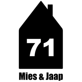 Naamsticker House Number