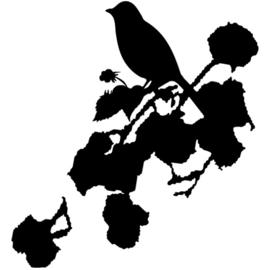 Interieursticker Romantic Bird