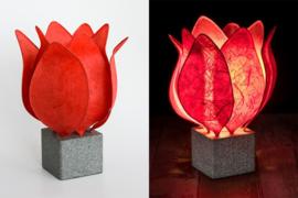 Tulip Lamp, kleur rood