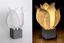 Tulip Lamp, kleur wit