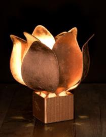 Tulip lamp, brons afwerking #97