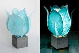 Tulp Lamp -  kleur(colour): licht blauw/light blue