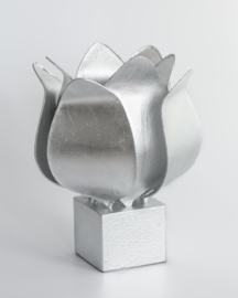 Tulip lamp, zilver afwerking #98