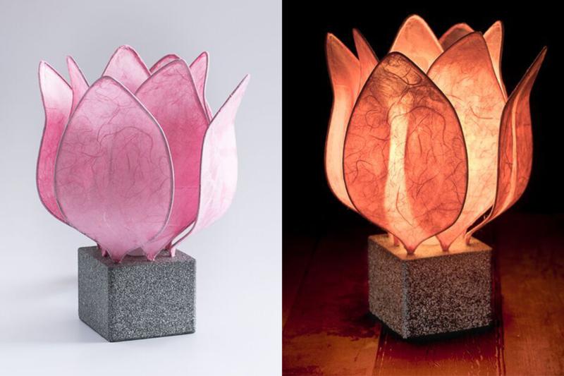 Tulip Lamp, kleur licht roze