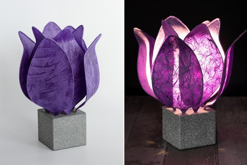 Tulip Lamp, kleur donker paars