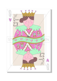 Queen of my heart | Valentijnskaart | Studio Scheveningen