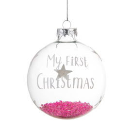 Baby Girl First Christmas Bauble - Sass & Belle