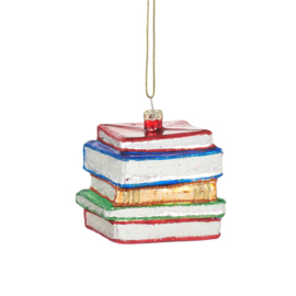 Stack of Books Shaped Bauble | Sass & Belle