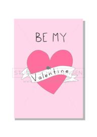 Be my Valentine   Valentijnskaart   Studio Scheveningen