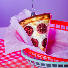 Pizza Slice Shaped Bauble | Sass & Belle