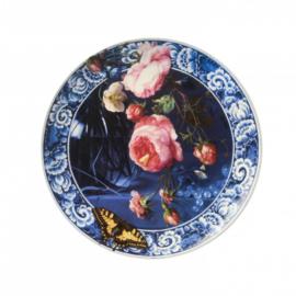 Bord 'Bloemen uit de Gouden Eeuw' groot - Heinen Delfts Blauw