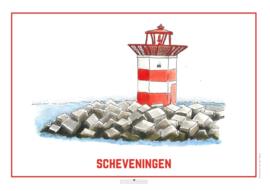 Het Havenhoofd van Scheveningen | A4 Poster - Studio Scheveningen